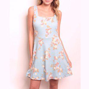 Summer Aqua Floral print dress
